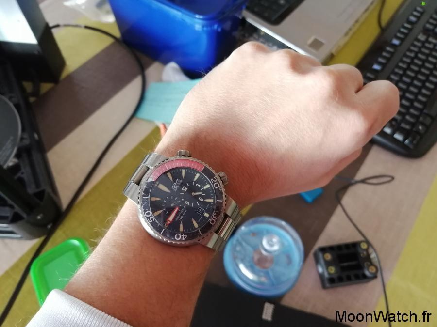 oris der meistertaucher regulateur wristshot