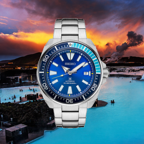 seiko samurai blue lagoon limited edition