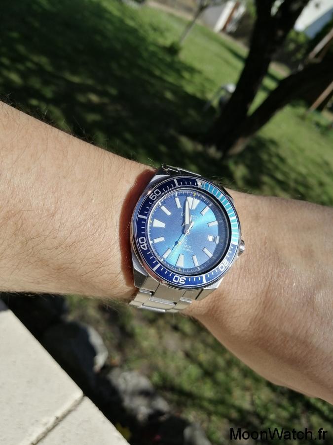 seiko samurai blue lagoon wristshot
