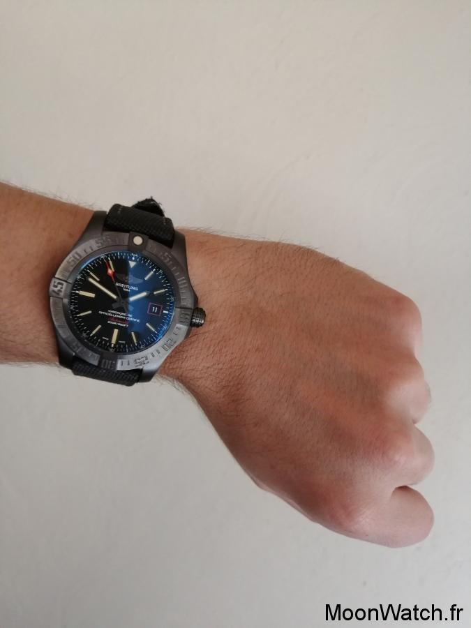 breitling blackbird wristshot