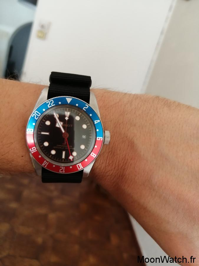 wristshot corgeut black bay gmt