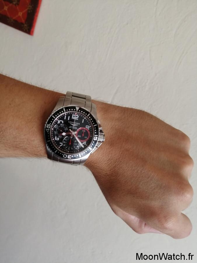 wristshot longines hydroconquest chrono