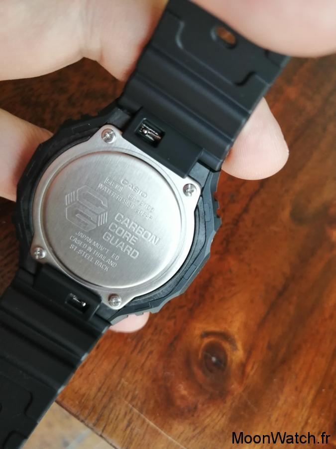 caseback casio g-shock ga2100