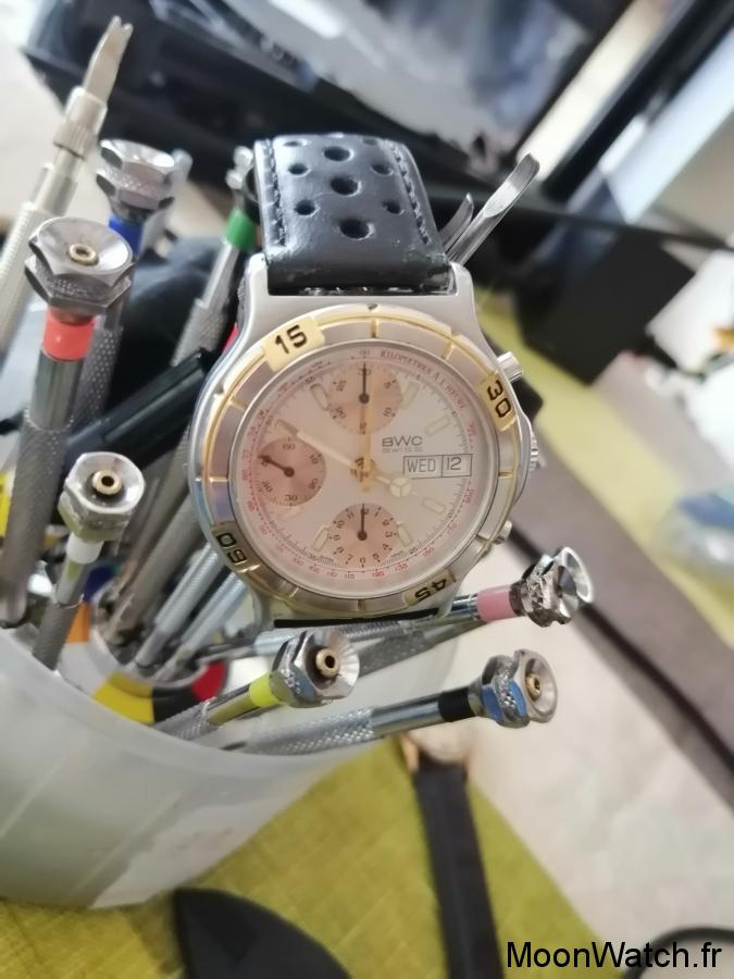 swiss made bwc chronographe
