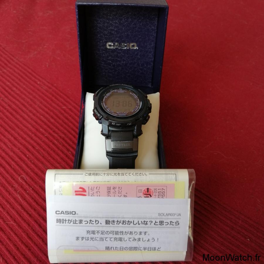 packaging casio pro trek prw-2000