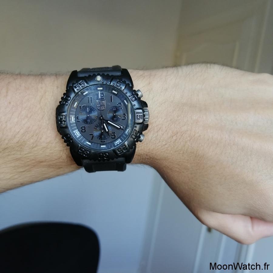 wristshot luminox chronographe navy seal