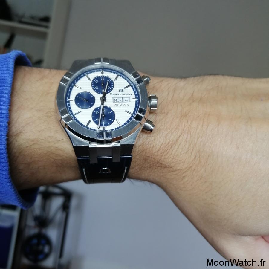 wristshot maurice lacroix chronographe